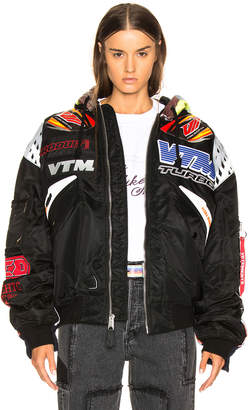 Vetements Oversized Racing Bomber Jacket