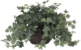 Asstd National Brand Nearly Natural Puff Ivy Silk Plant with Vase