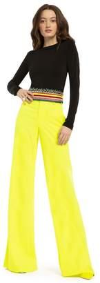 Alice + Olivia Paulette High Waist Neon Pant