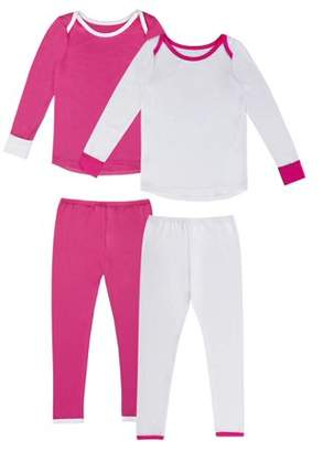 Cuddl Duds ClimateRight by Polycore Warm Layering Long Underwear, 2pk (Toddler Girls)