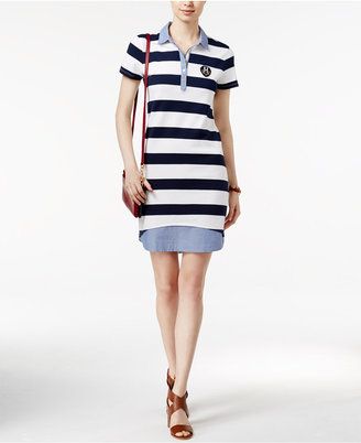 Tommy Hilfiger Arielle Layered-Look Polo Dress $69.50 thestylecure.com