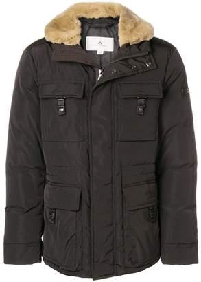 Peuterey rabbit fir trimmed jacket