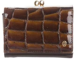 Cartier Embossed Leather Compact Wallet