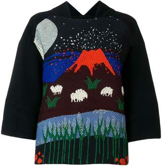 Henrik Vibskov volcano print blouse