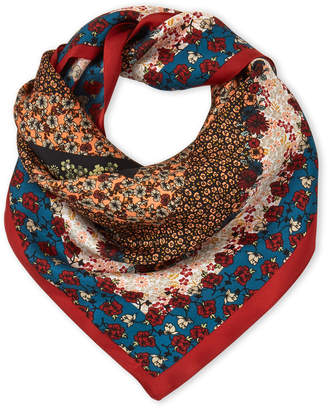 Vince Camuto Floral Patch Silk Scarf
