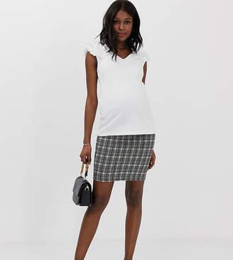 Mama Licious Mama.Licious Mamalicious maternity jersey check skirt