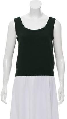 St. John Rib Knit Sleeveless Top