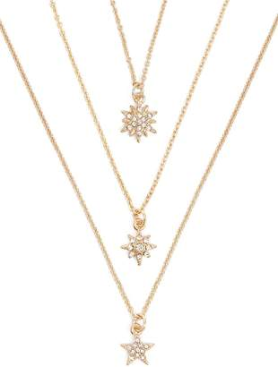 Forever 21 Rhinestone Star Pendant Necklace Set
