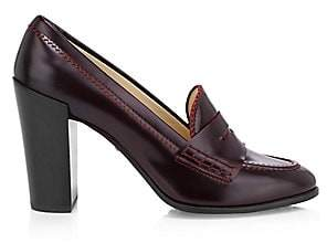Tod's Men's Leather Penny Loafer Pumps