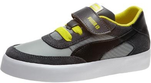 Puma Drez S Kids - Dark Shadow-Limestone Gray-Black-Fluo Yellow