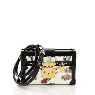 Louis Vuitton Petit Malle Black Leather Handbag