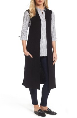Women's Halogen Long Knit Vest $79 thestylecure.com
