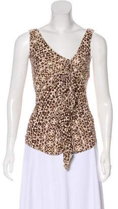 Max Mara Weekend Printed Sleeveless Top