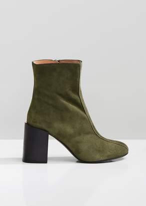 Acne Studios Saul Suede Stacked Heel Boots