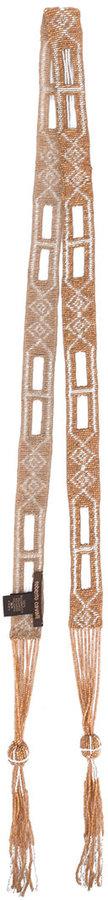 Roberto Cavalli beaded embroidery scarf