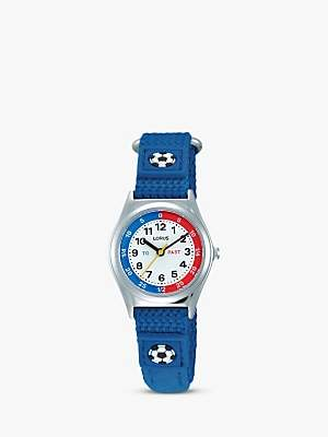 Lorus RG247KX9 Children's Nylon Strap Watch, Blue/White