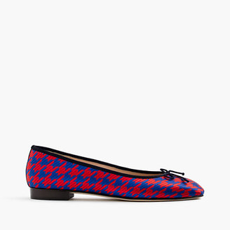 Kiki ballet flats in houndstooth jacquard $168 thestylecure.com