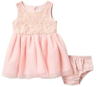 BCBGirls Floral Knit Dress with Mesh Skirt (Baby Girls)