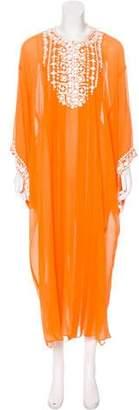 Oscar de la Renta Embellished Silk Dress