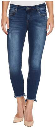 KUT from the Kloth Connie Ankle Skinny w/ Step Fray Hem in Engaged Women's Jeans