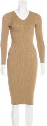 MICHAEL Michael Kors Metallic Knit Midi Dress