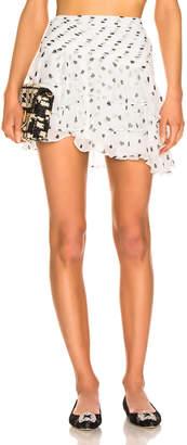 retrofete Reese Skirt in White & Poker Dots | FWRD