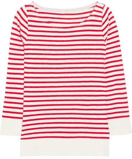 J.Crew Jenny striped cotton top