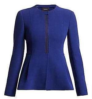 Akris Women's Wool Peplum Zip Jacket