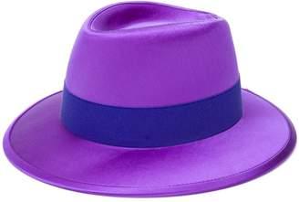 Saint Laurent ribbon detail fedora hat
