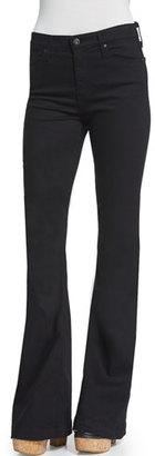 AG Janis High-Waist Super-Flare Jeans, Black $198 thestylecure.com