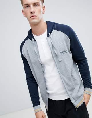 BOSS Bodywear Authentic Zip Through Hooded College Jacket