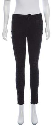 J Brand Patterned Mid-Rise Jeans