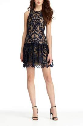 Monique Lhuillier Lace With Drop Waist