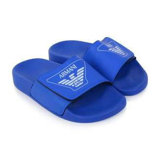 Armani Junior Armani JuniorBoys Blue Logo Sliders