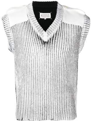 Maison Margiela sleeveless fitted sweater