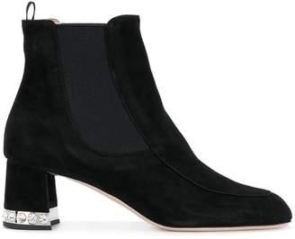 Miu Miu crystal-embellished ankle boots