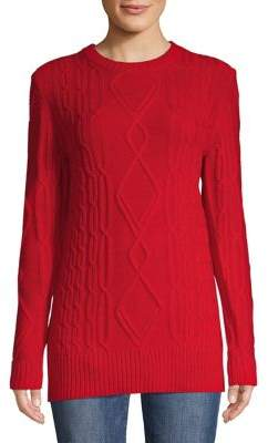 Lord & Taylor Classic Cable-Knit Sweater
