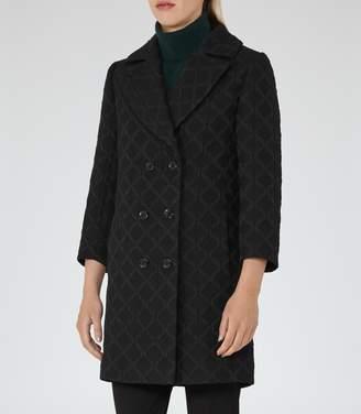 Reiss Ridley - Textured Coat in Black