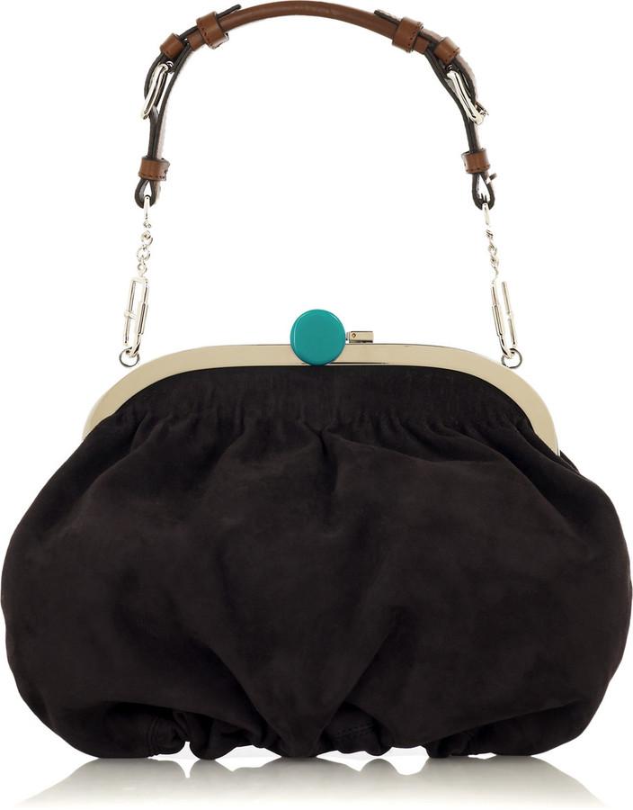 Marni Suede frame bag