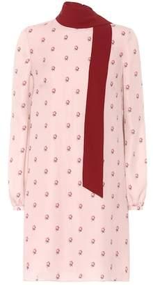 Valentino Printed silk scarf dress