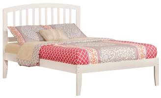 Richmond Atlantic Furniture Platform Bed with Open Foot Board in, Multiple Colors and Sizes