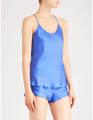 Olivia Von Halle Bella Sapphire silk-satin pyjama set