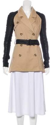 Veda Leather-Accented Casual Jacket