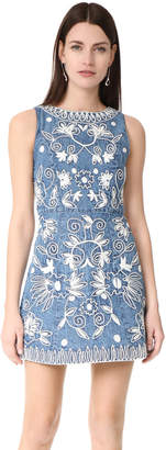 alice + olivia Lindsey Embroidered Pouf Dress $485 thestylecure.com