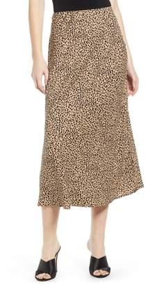 Love, Fire Leopard Midi Skirt