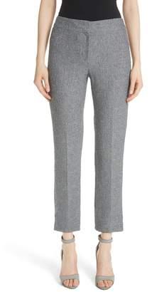 Emporio Armani Boucle Tweed Flare Crop Pants