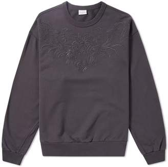 Dries Van Noten Embroidered Yoke Crew Sweat