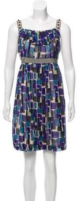 Lela Rose Silk Printed Dress
