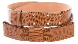 DSQUARED2 Embossed Leather Waist Belt