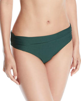 Heidi Klein Fold-Over Pintucked Hipster Bikini Bottoms